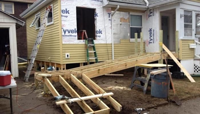 House · Building A New Bathroom And Wheelchair Ramp