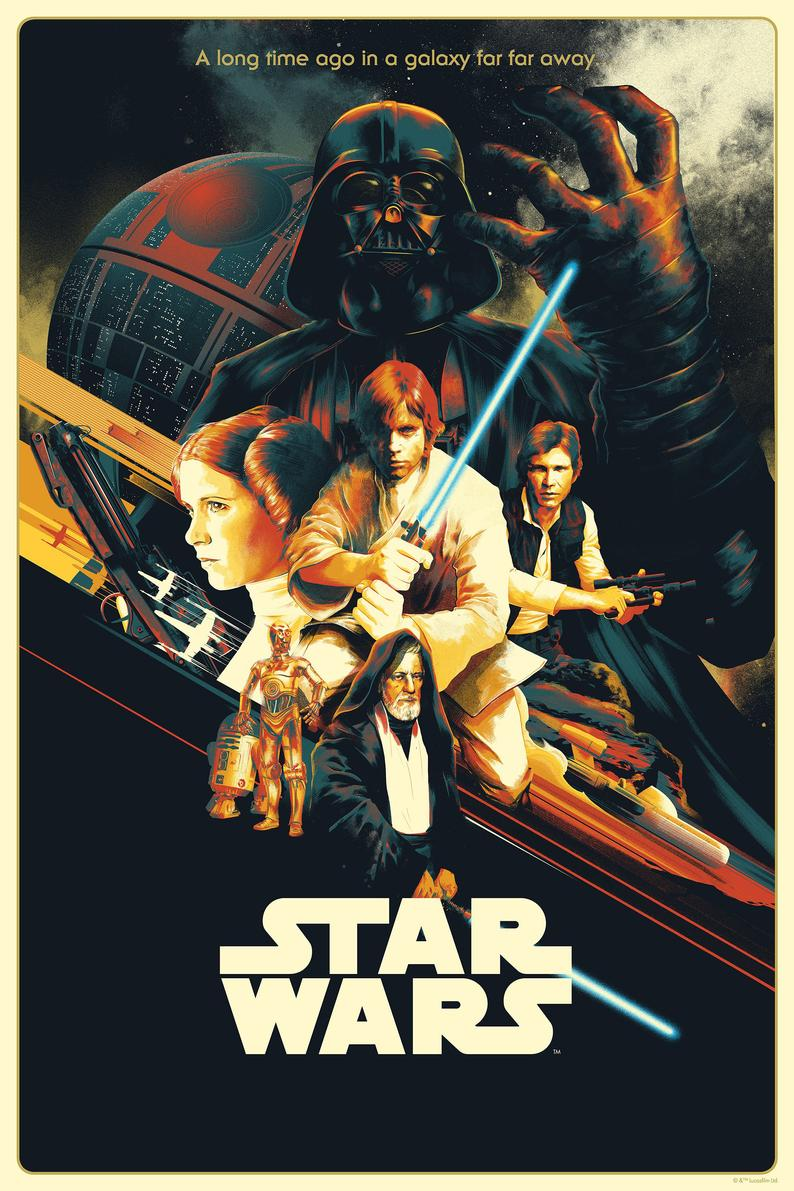 Star Wars New Hope Episode Iv 1977 Vintage Movie Poster Etsy Hope Poster Star Wars Poster Star Wars Art Print