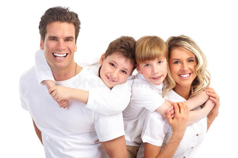 Happy Family Father Mother And Children Over White Background Ad Father Family Happy Mother Backgr Family Stock Photo Smile Images Happy Family