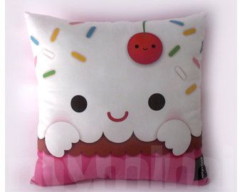 Popcorn visage kawaii alimentaireCoussinpeut personnaliser cool
