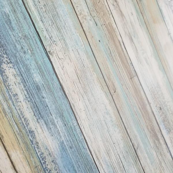Blue Distressed Barnwood Plank Wood Peel And Stick Wallpaper Peel And Stick Wallpaper Barn Wood Wood Wallpaper