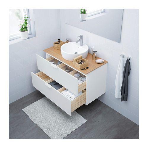 meuble lavabo av vasque 45 godmorgon tolken t rnviken blanc bambou in 2018 salle de bain. Black Bedroom Furniture Sets. Home Design Ideas