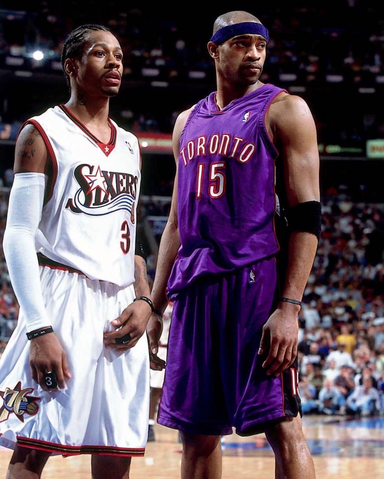 Alleniverson Vincecarter Philadelphia76ers Torontoraptors Nba Nba Legends I Love Basketball Basketball Pictures