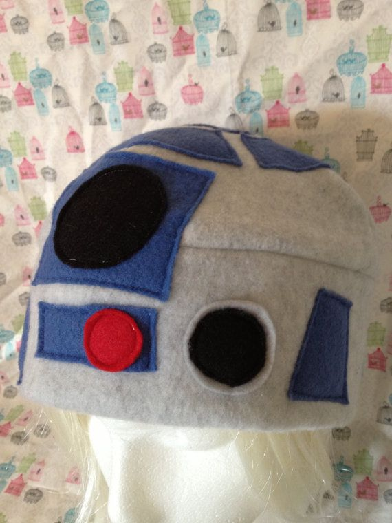 R2-D2 (Blue or Pink) From Star Wars Inspired Fleece Hat Handmade ...