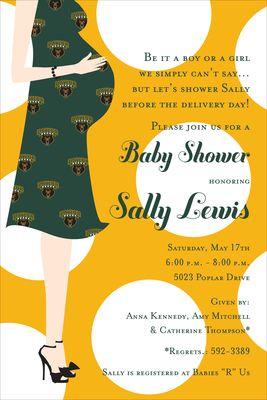 Baylor University Baby Shower Invitations