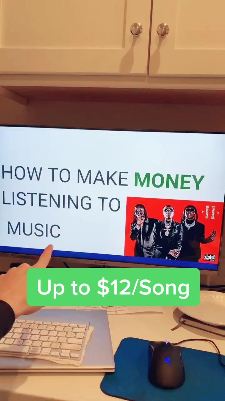 Get paid listening to music! #makemoves #money #si