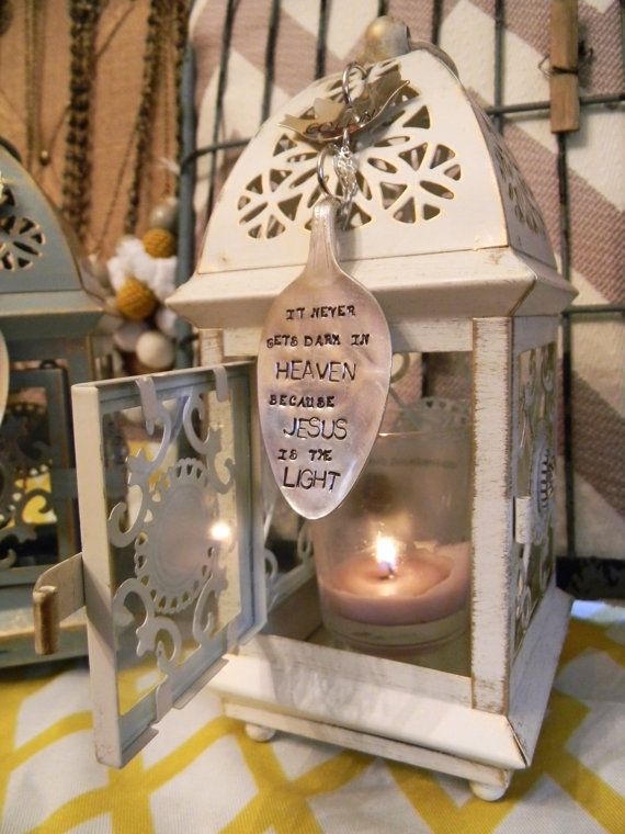 Memorial candle gift lantern indoor or by