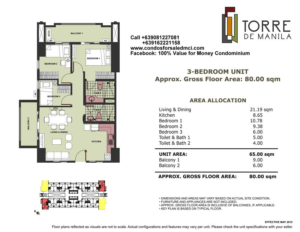 Torre De Manila 3 Bedroom Unit Approx Gross Floor Area 80 Sqm The Unit Pool Lounge Manila