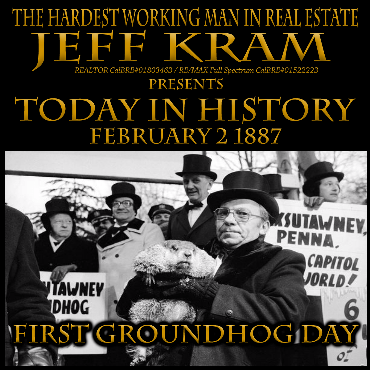 Today In History February 2 First Groundhog Day In