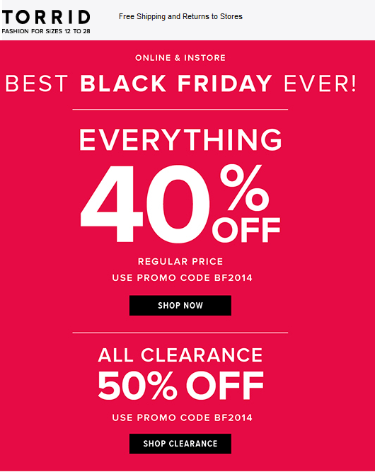 a08b8dc51c1 Pinned November 28th  Everything is 40% off   more today at  Torrid ...