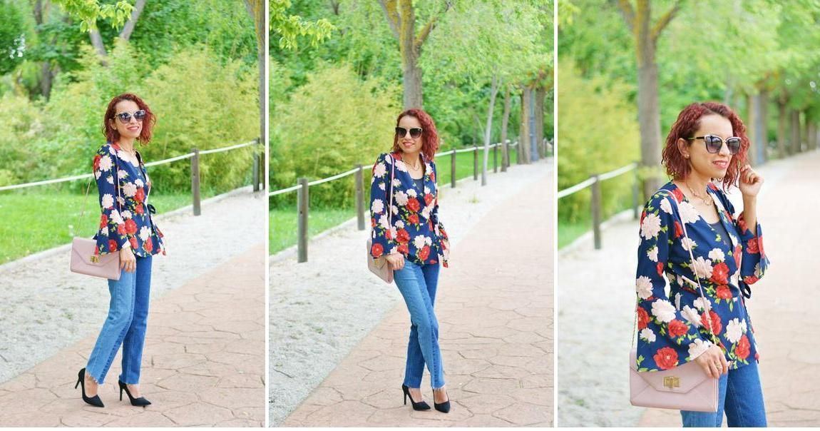 Cómo combinar una blusa de flores con mangas acampanadas | Belleza ...
