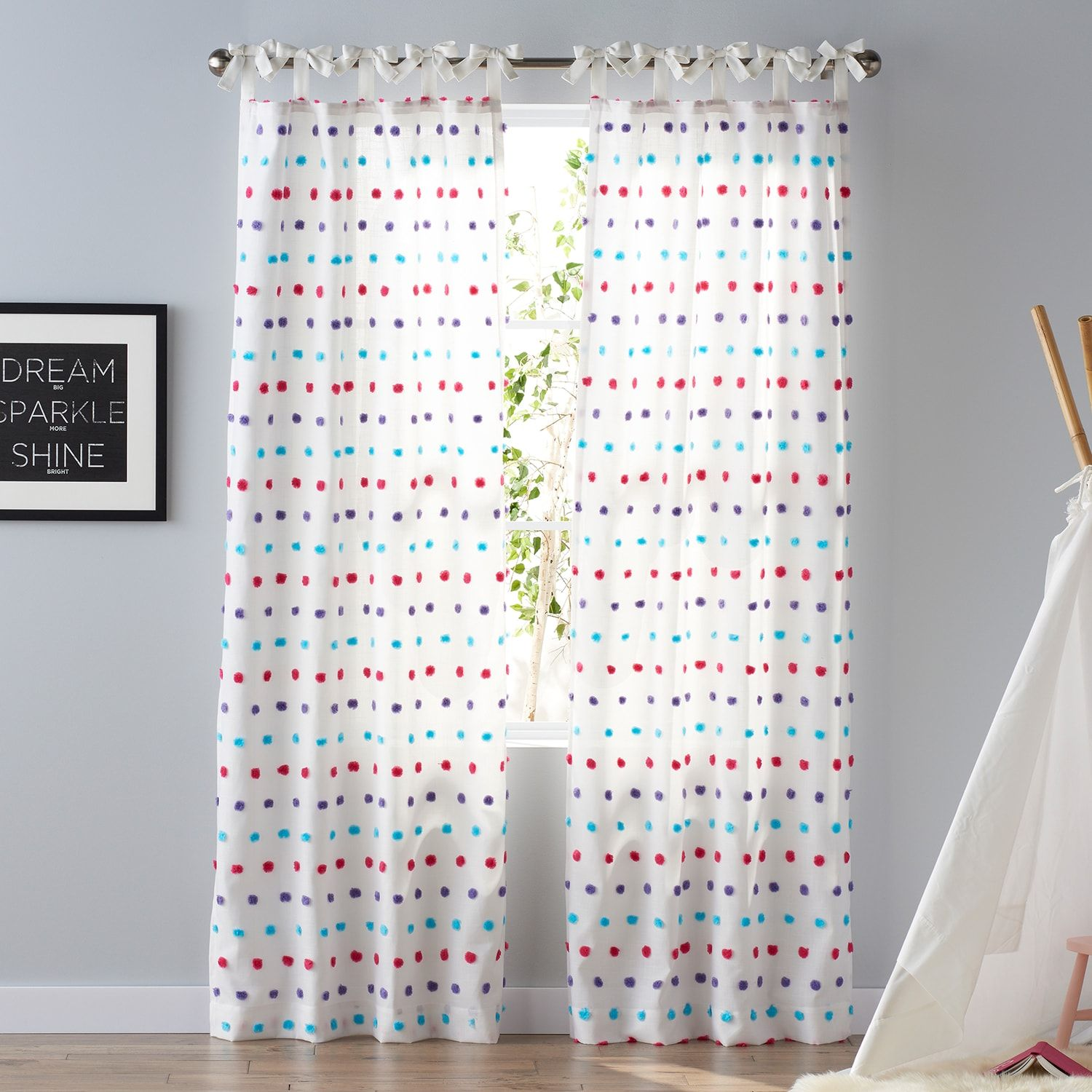 Sonoma Goods For Life Kids Carnival Dot 2 Pack Window Curtains