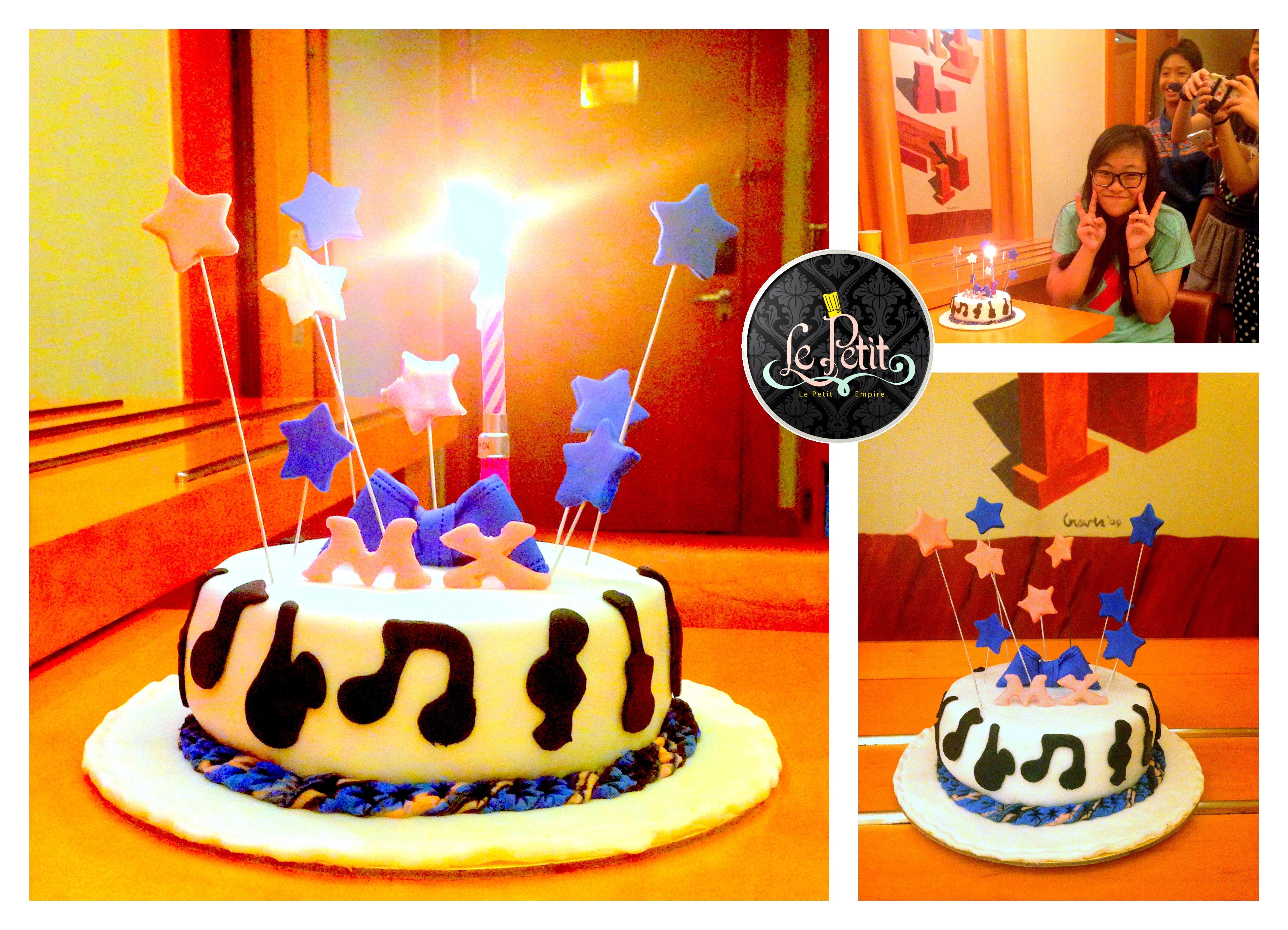 Music Fantasy Customized Cakes Fondant Sugar Paste Art Pastry Cake Bakery