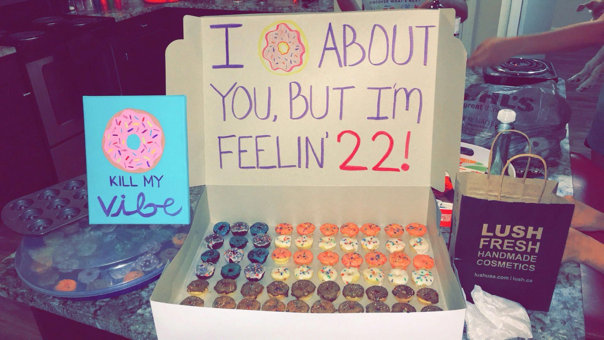 Best Friend 22nd Birthday Gifts Taylor Swift And Donut Themed Birthdaydiygifts