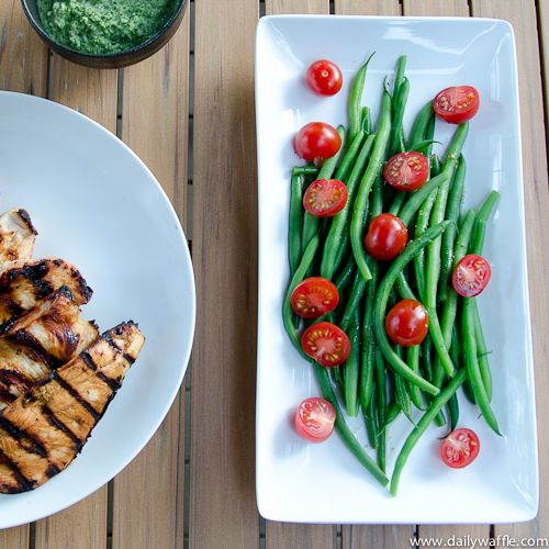 Summer Wind Down w/ a Green Bean & Cherry Tomato Salad