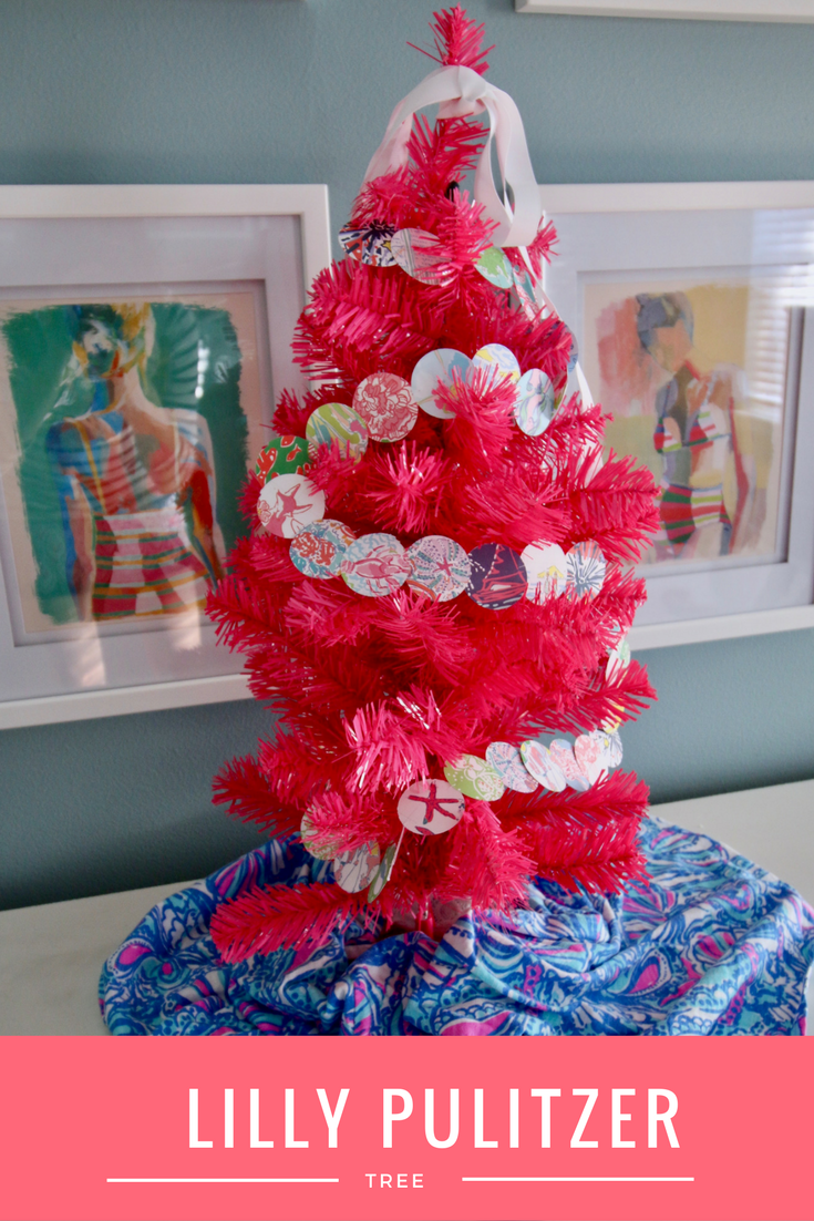 Diy Lilly Pulitzer Pink Christmas Tree Lilly Pulitzer Prints