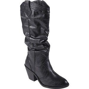 Brinley Co Women's High Heel Slouchy Boots  $39.99 at walmart.com