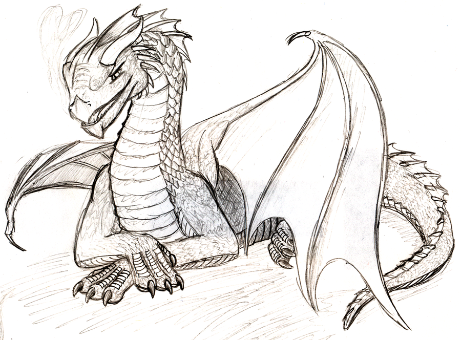 Simple Dragon by flamingpigeon on deviantART Dragon