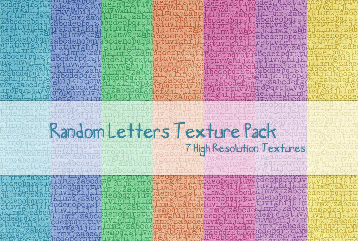 Random Letters Texture Pack by powerpuffjazz.deviantart.com