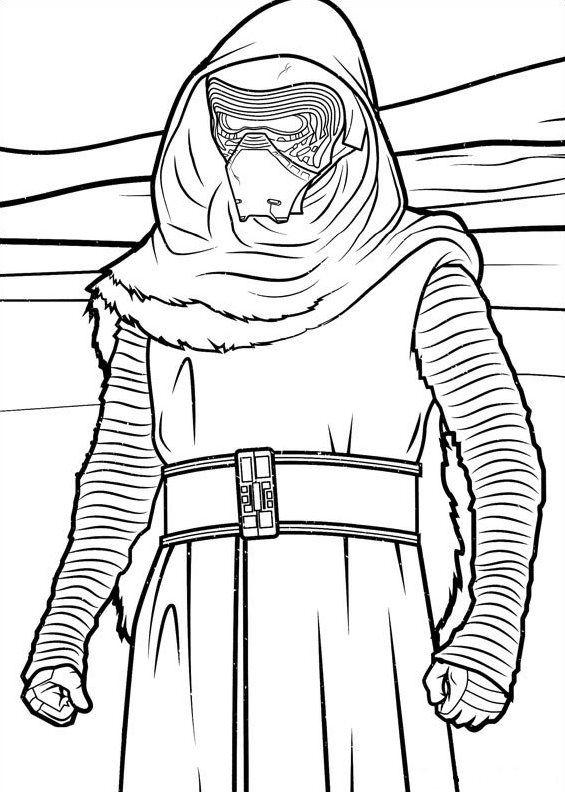 Myndanidurstada Fyrir Coloring Kylo Ren Star Wars Printables