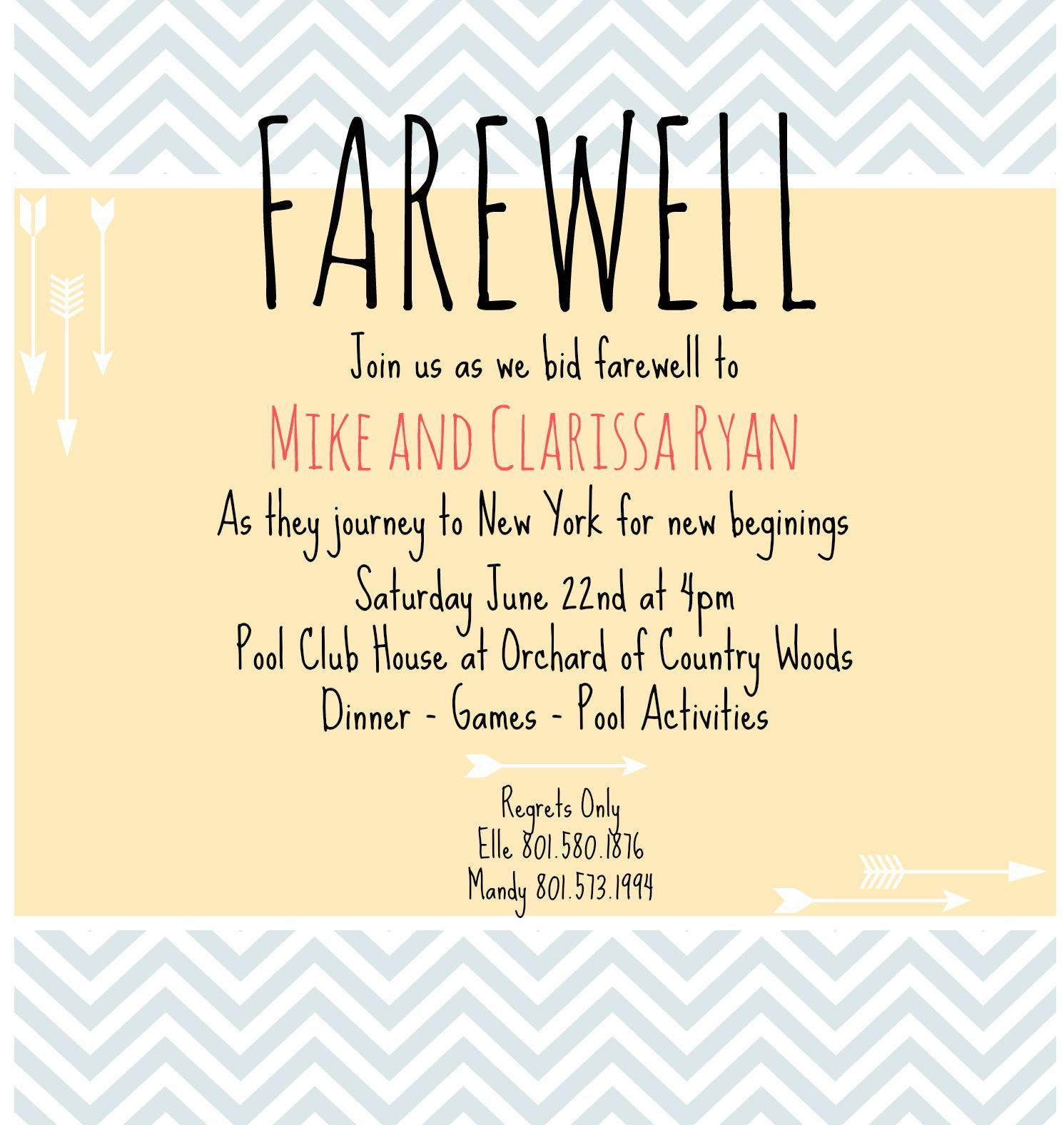 3 Awesome Farewell Party Invitation Card Quotes  Farewell party