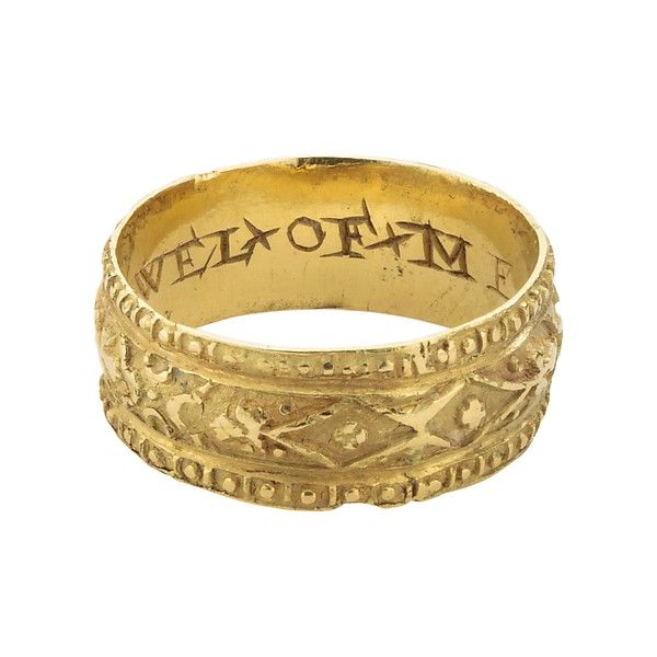 the history of wedding bands an ancient tradition 16th century gold posy ring - History Of Wedding Rings