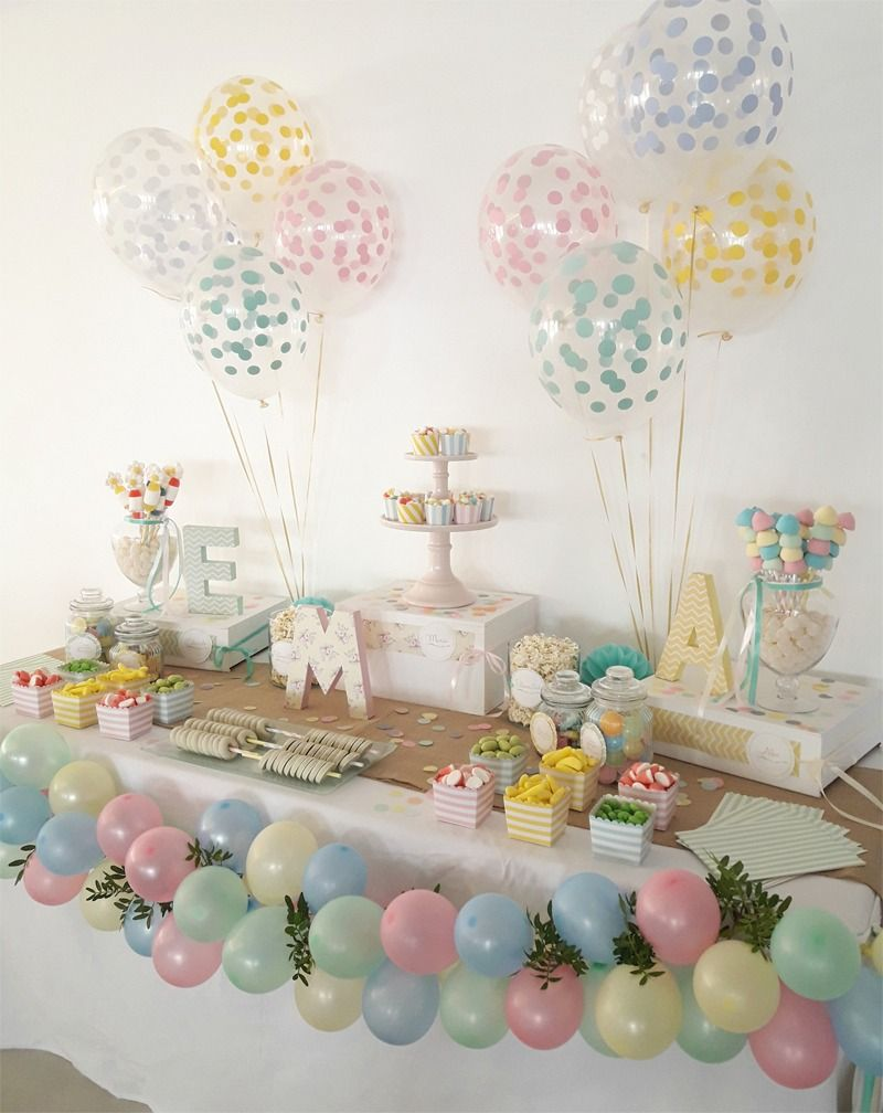 Candy bar para comuni n en tonos pastel comuni n pinterest bar fiestas and ideas para - Ideas decoracion bar ...