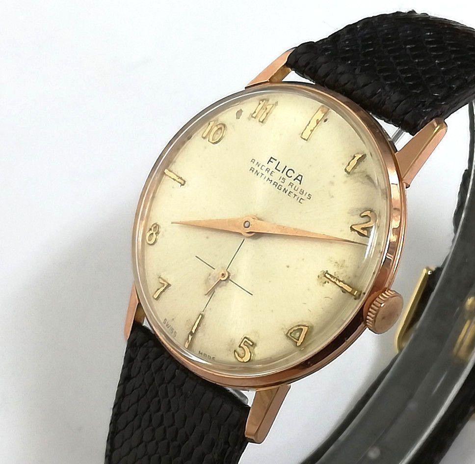 35d0d3cb7c7d Reloj hombre FLICA ANCRE Original de cuerda Vintage años 60 s cal VENUS 180