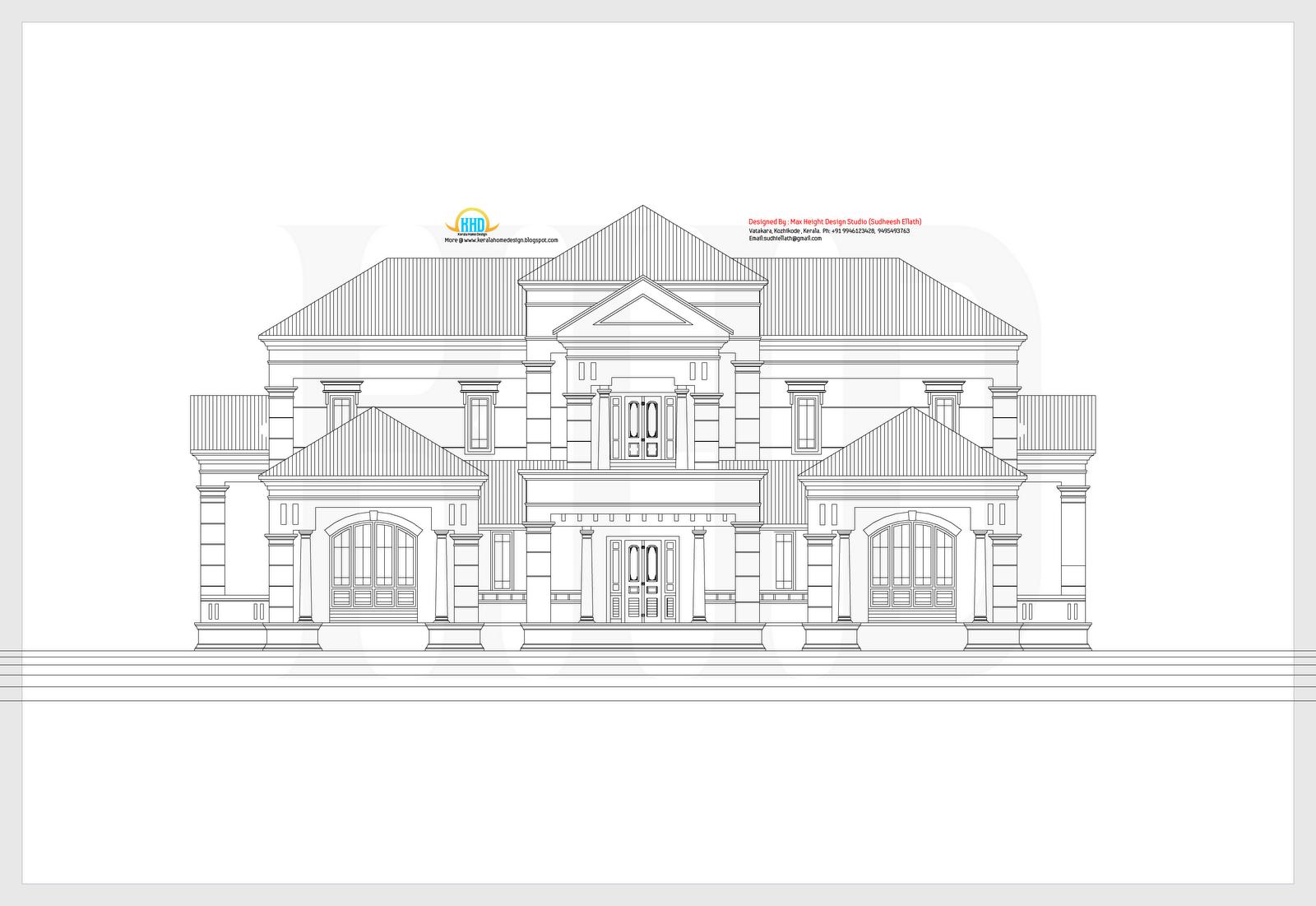Kerala house designs 2d google search