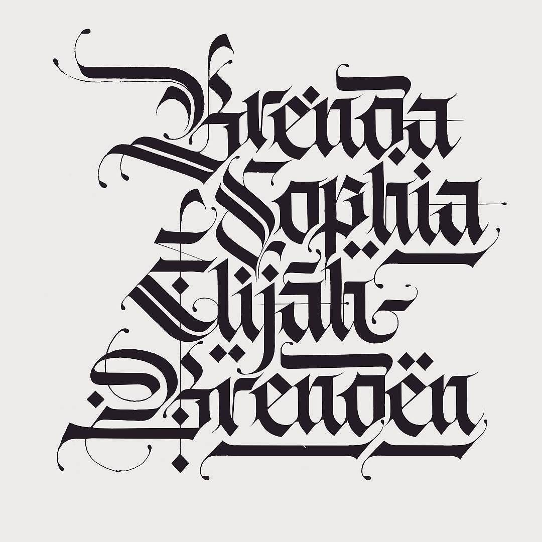 Follow us @type.gang I love blackletter/gothic/fraktur script. There ...