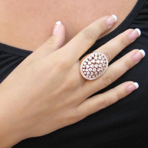 Rose Gold Big Ring Italian Buy Now repin like share