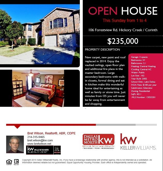 Open House In The Hickory Creek Corinth Tx Area With Images
