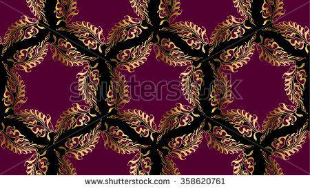 Art Nouveau style vector round pattern illustration