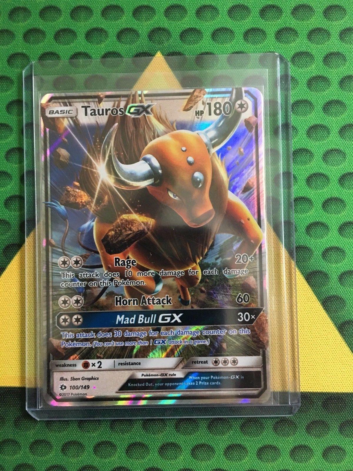 Tauros GX 100//149 Sun /& Moon Near Mint Pokemon Card