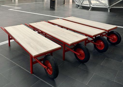 Sgabello cariola esterni arredi mobili ispirati al concetto