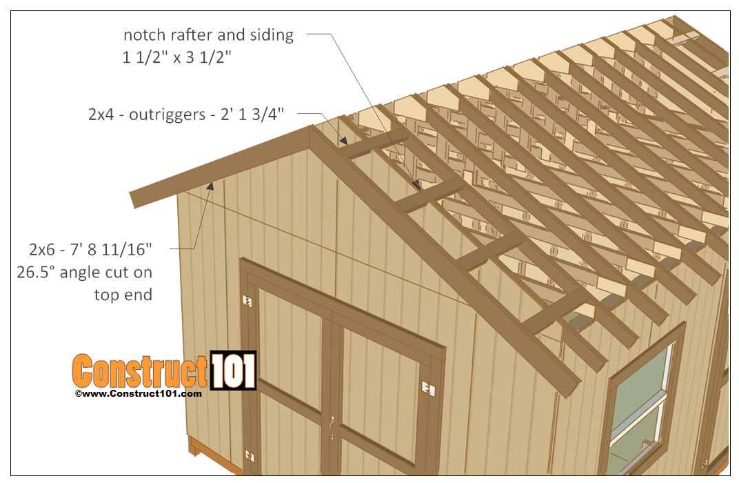 12x16 shed plans gable design storage barn and woodwork for Barn storage building plans