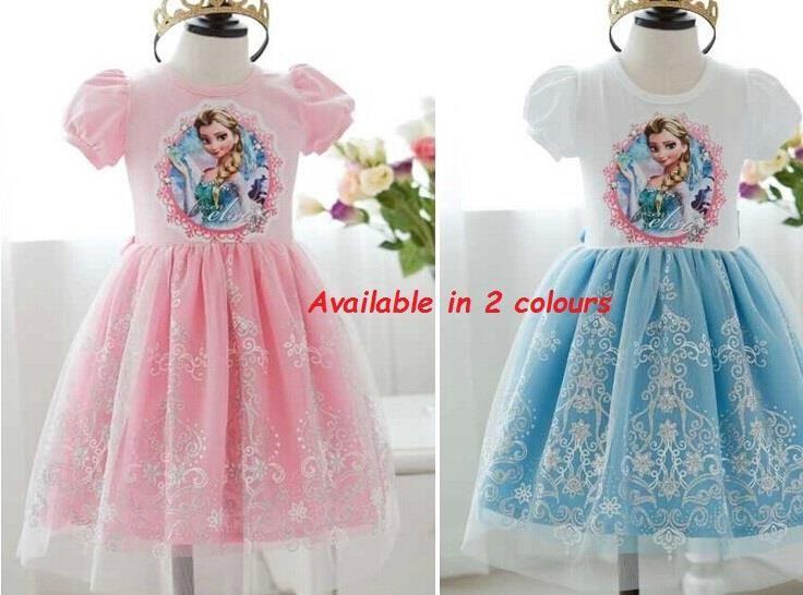 Frozen Queen Elsa Pink/Blue Children Dress Skirt Free FROZEN PURSE ...