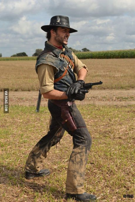 Awesome John Marston Cosplay Action Pose Reference Human