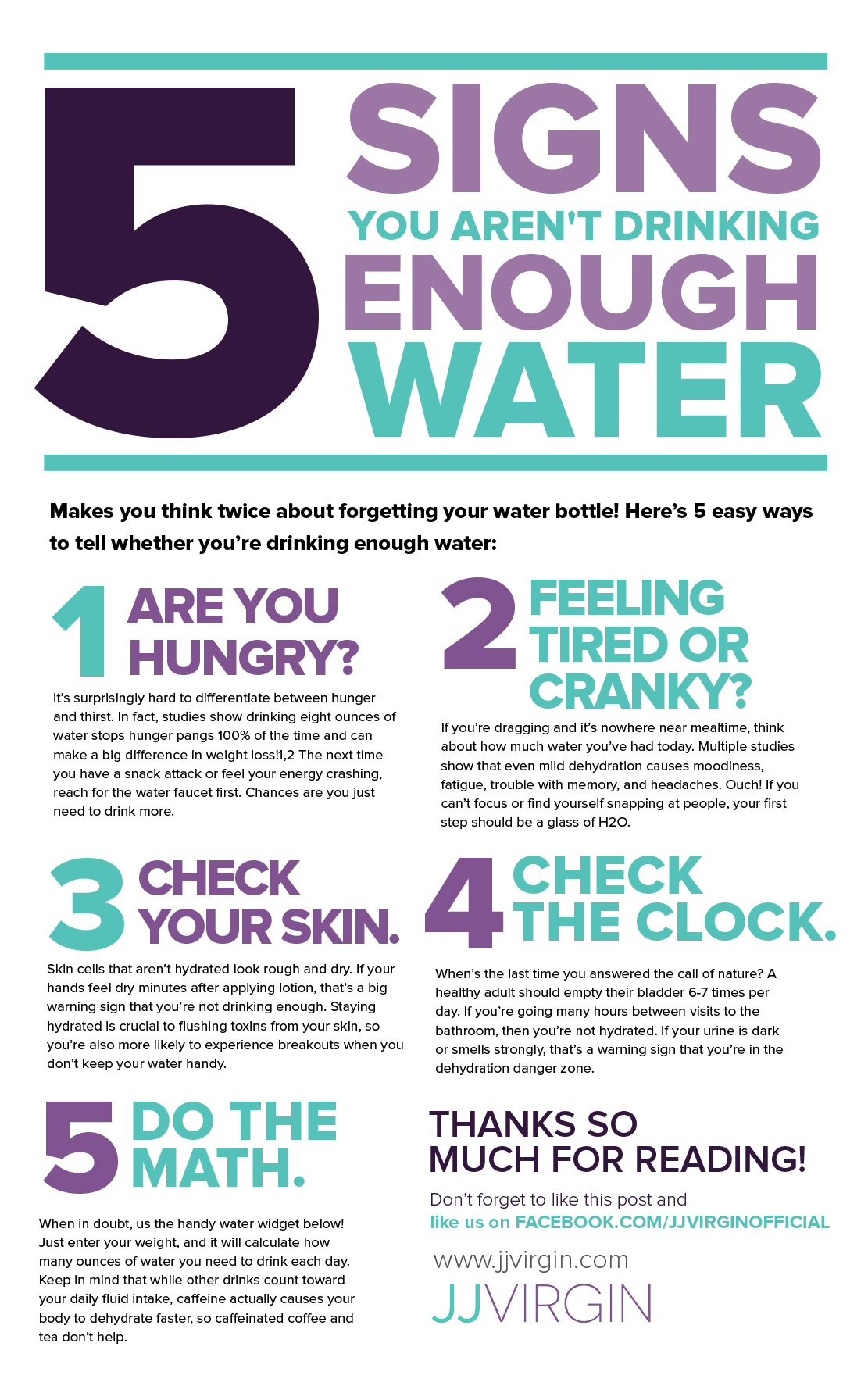Signs You Dont Drink Enough Water