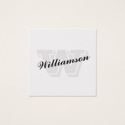 Monogram script lines pattern square business card reheart Image collections