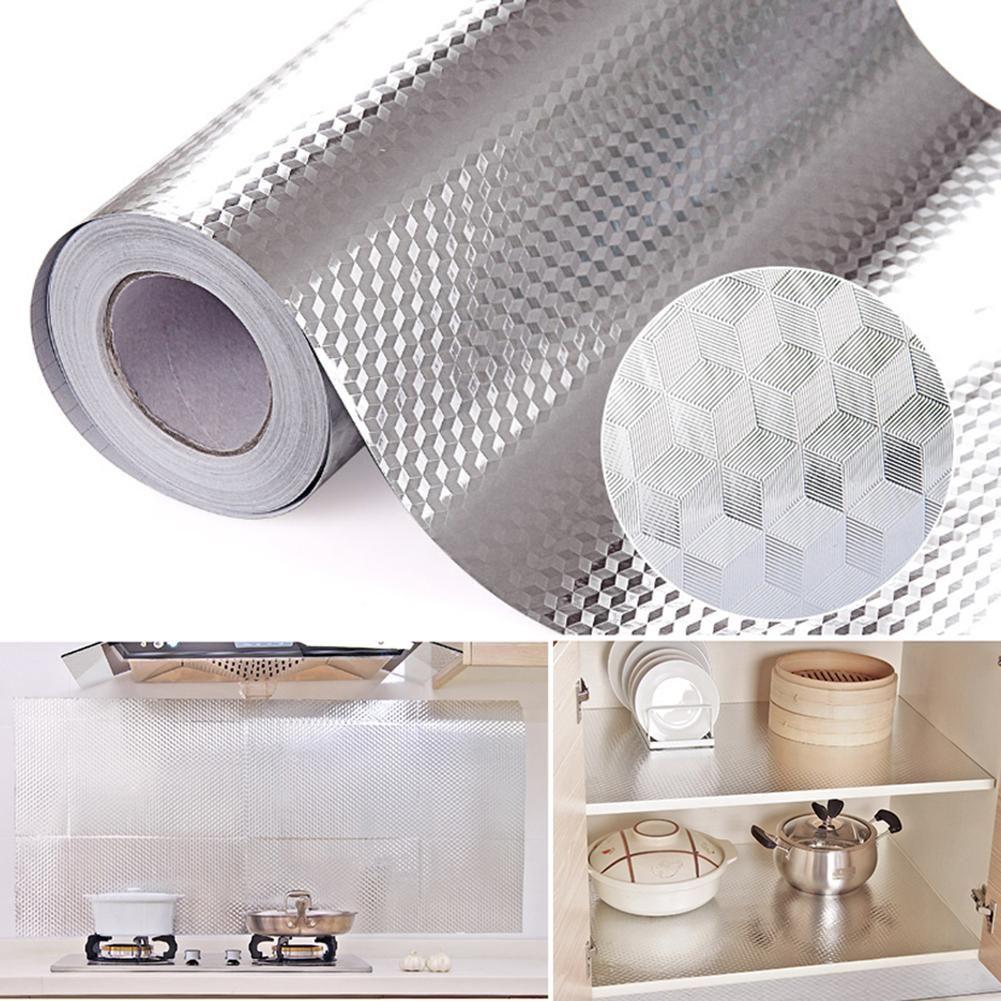 Aluminum Foil Kitchen Stickers Maison Decoration Sticker Self