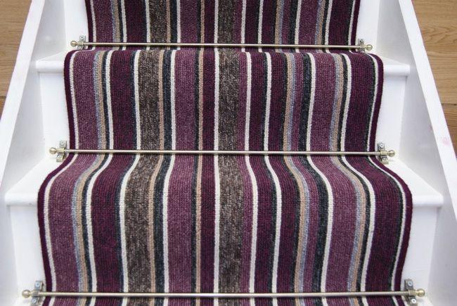 Best Allsorts Purple Stair Runner 6 6M X 65M Carpet Stairs 400 x 300