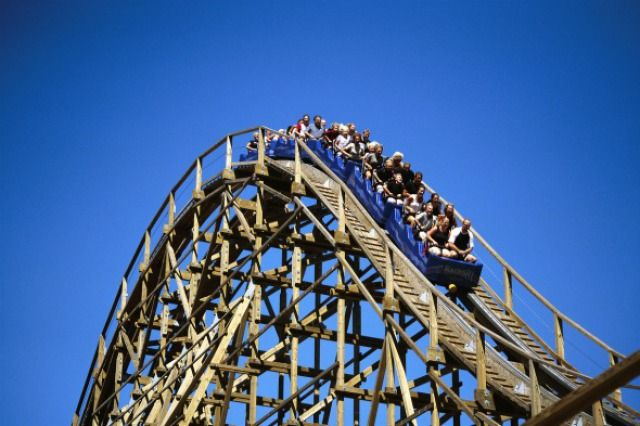 (PHOTO: Balder)  World's scariest theme park rides:  Balder, Liseberg Amusement Park, Sweden (Balder, at Liseberg Amusement Park in Sweden's Gothenburg, is one of the largest wooden roller coasters in the world and reaches speeds of up to 90km an hour. )