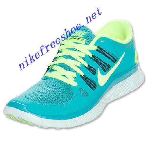 Nike Free 5.0 Womens Sport Turq Fiberglass Anthracite 580591 373
