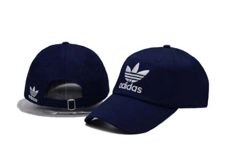 71a8e7b9cce Mens   Womens Unisex Adidas Originals Trefoil Logo Embroidery Strap Back  Baseball Adjustable Hat - Navy