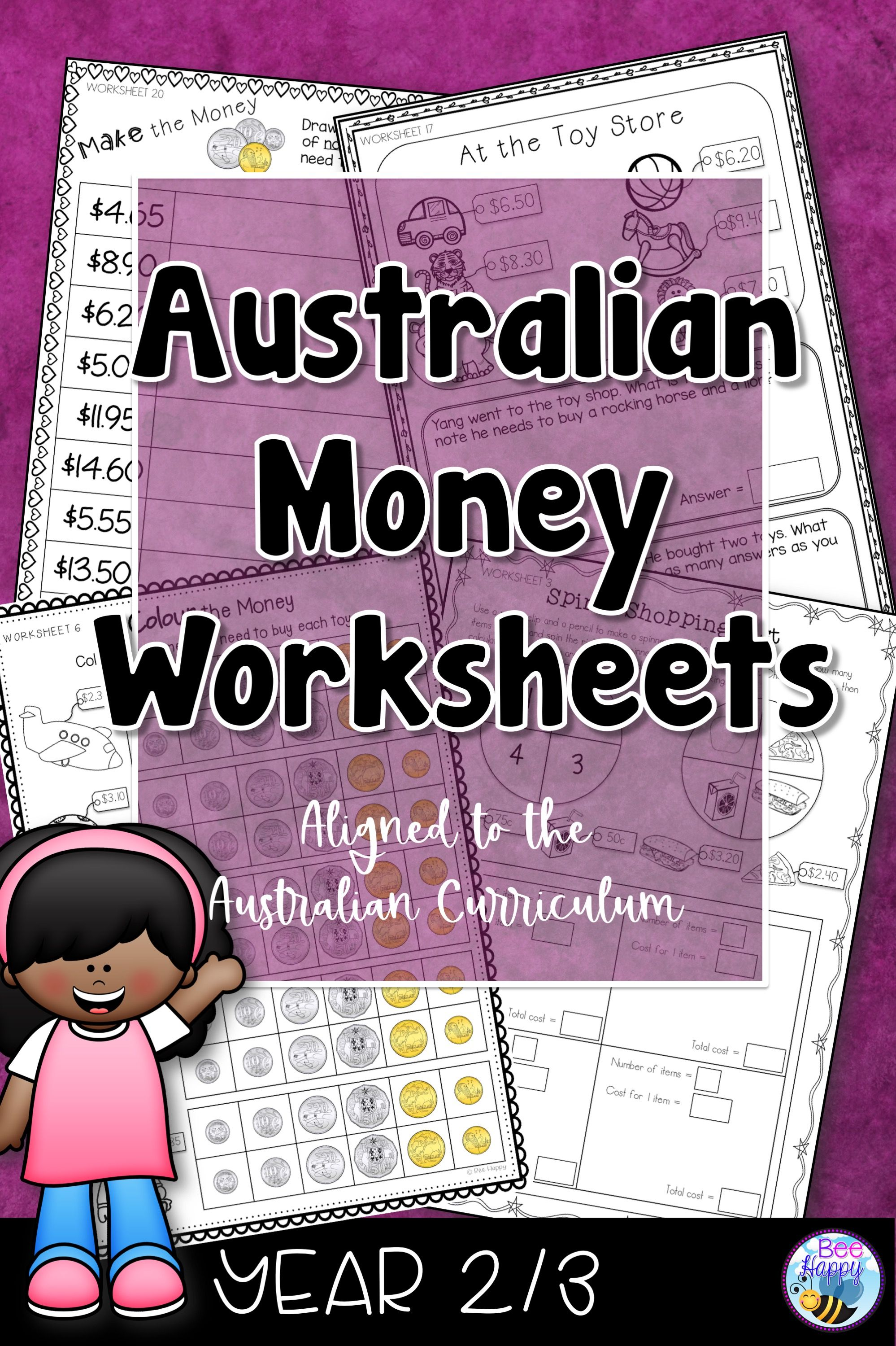Australian Money Worksheets Year 2 3 In
