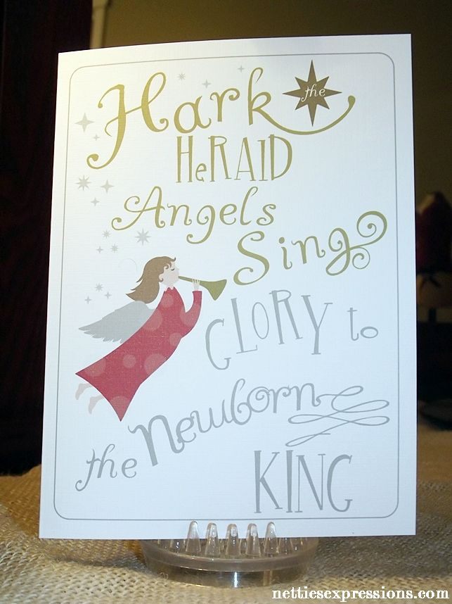 Christmas card hark the herald angels sing netties expressions christmas card hark the herald angels sing netties expressions m4hsunfo