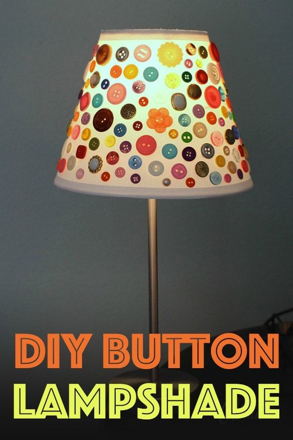 This cute button lamp shade is a great craft for all ages. You don\'t ...