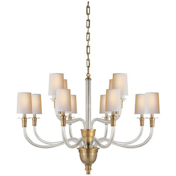 Visual comfort lighting thomas obrien vivian 12 light chandelier
