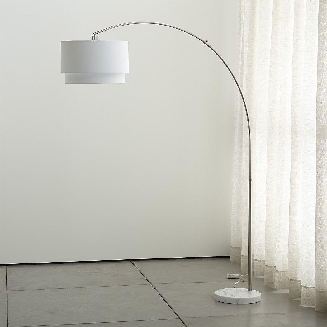 Meryl Arc Floor Lamp + Reviews Crate and Barrel Arc